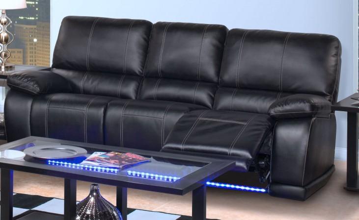 Electra Mesa Black Dual Reclining Sofa