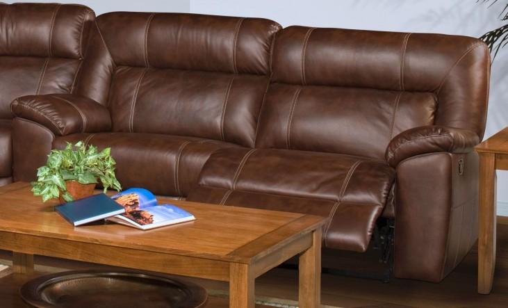 Thorton Durham Brown Power Reclining Sofa