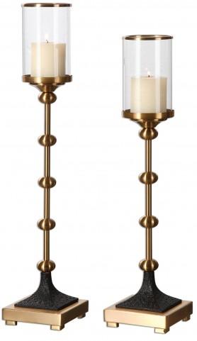 Santona Brass Candleholders Set of 2