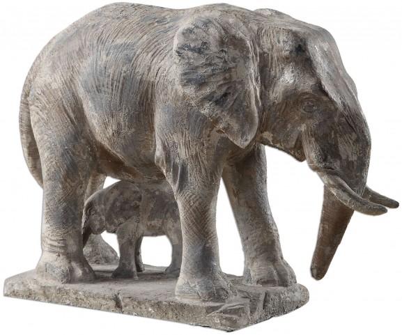 Standing Guard Elephant Statue