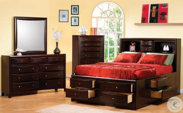 Phoenix Storage Bedroom Set