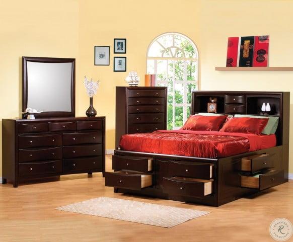 a6b6fb889165 Phoenix Storage Bedroom Set from Coaster (200409) | Coleman Furniture