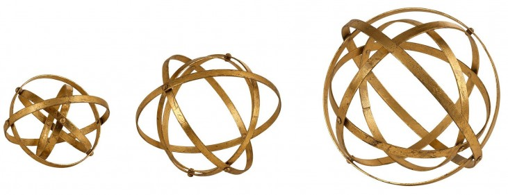 Stetson Gold Spheres Set of 6