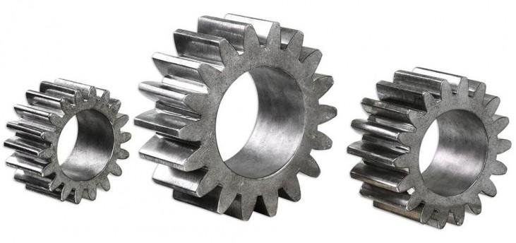 Gears Silver Sculpture Set of 3