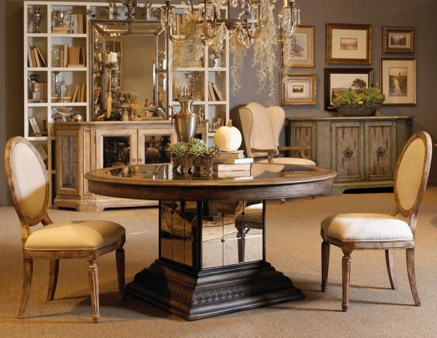 Accentrics Home Aphrodite Round Dining Room Set
