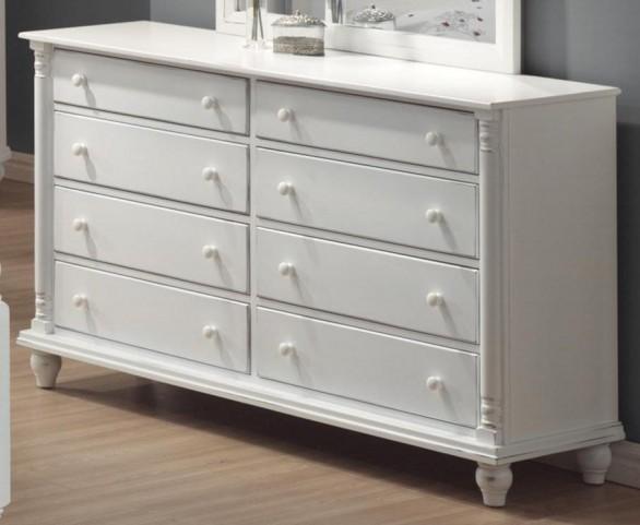Kayla White Dresser - 201183