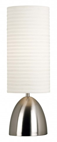 Bandeau Brushed Steel Table Lamp