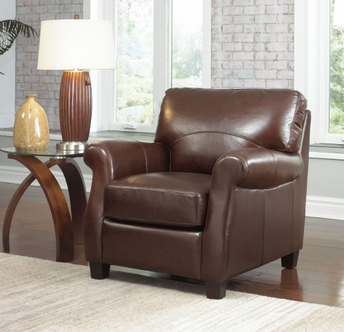Carlisle Coffee Beans Leather Chair