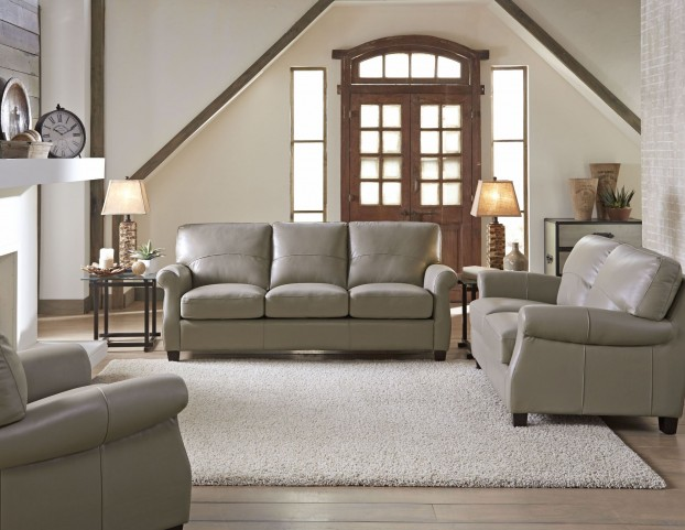 Carlyle Adobe Leather Living Room Set
