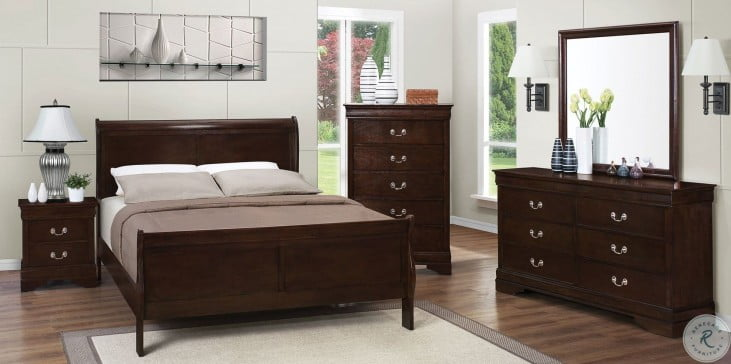 Louis Philippe Rich Cappuccino Youth Sleigh Bedroom Set