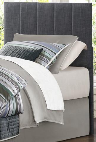 Potrero Gray Fabric Twin Headboard