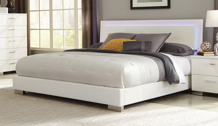 Felicity White Queen Platform Bed
