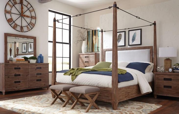 Madeleine Smoky Acacia Canopy Bedroom Set