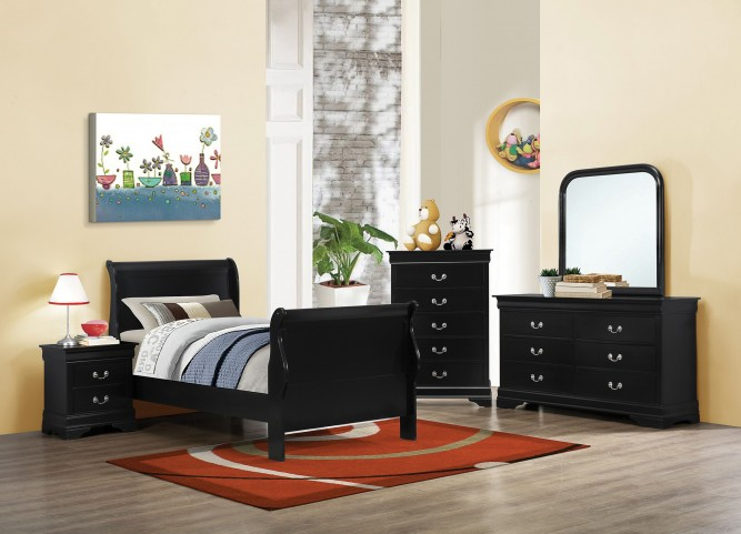 Louis Philippe Black II Youth Sleigh Bedroom Set