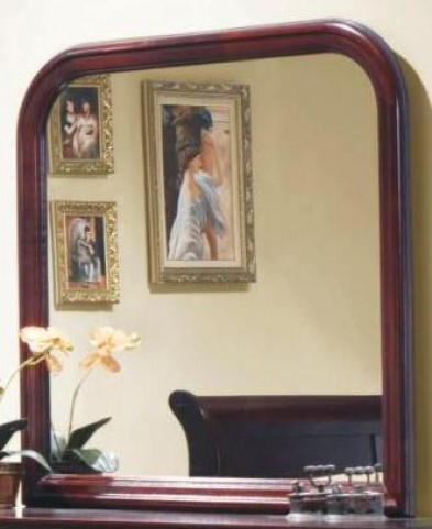 Louis Philippe Reddish Brown Mirror