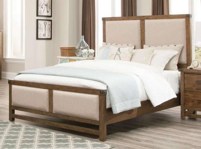 Bridgeport Weathered Acacia Queen Panel Bed