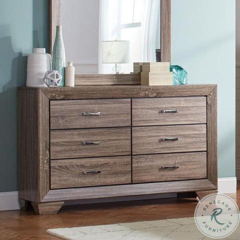 Kauffman Washed Taupe Dresser