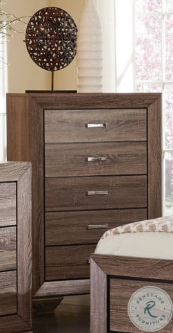 Kauffman Washed Taupe Storage Panel Bedroom Set