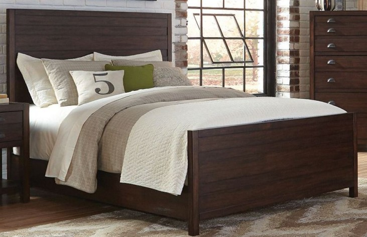 Lanchester Cocoa Queen Panel Bed by Donny Osmond