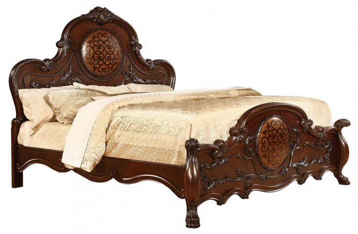 Abigail Lion Claw Queen Panel Bed