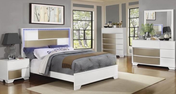 Havering Blanco And Sterling Platform Bedroom Set