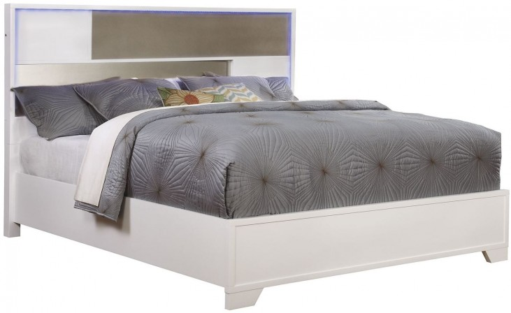 Havering Blanco And Sterling Queen Platform Bed