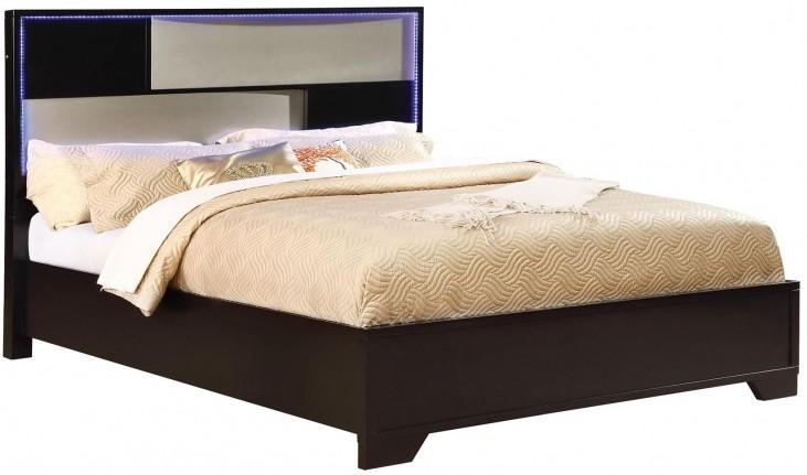 Havering Black and Sterling King Platform Bed