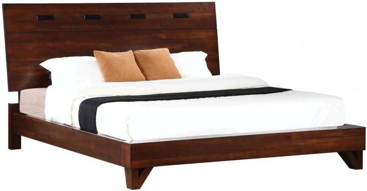 Yorkshire Dark Amber King Platform Bed