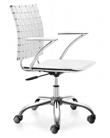 Criss Cross Office Chair White