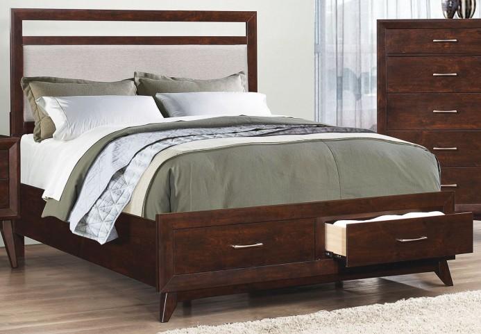 Carrington Coffee King Platform Storage Bed