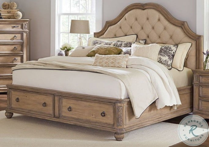 Ilana Antique Linen Panel Storage Bedroom Set From Coaster Coleman