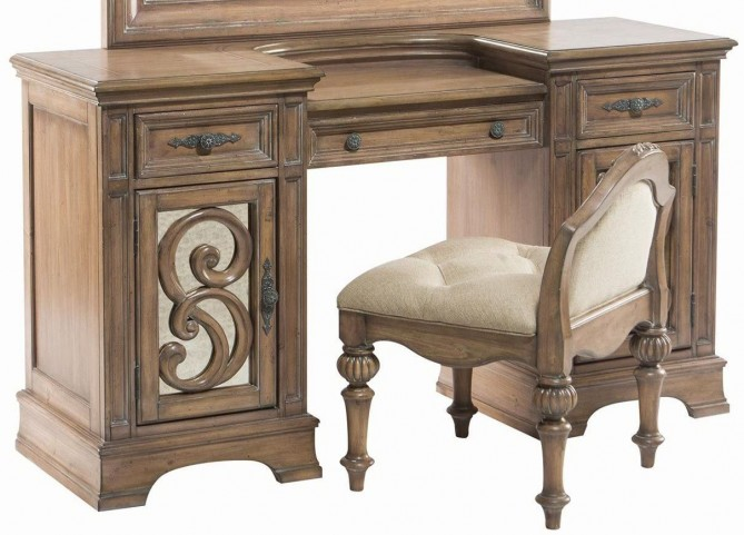 Ilana Antique Linen Vanity Desk
