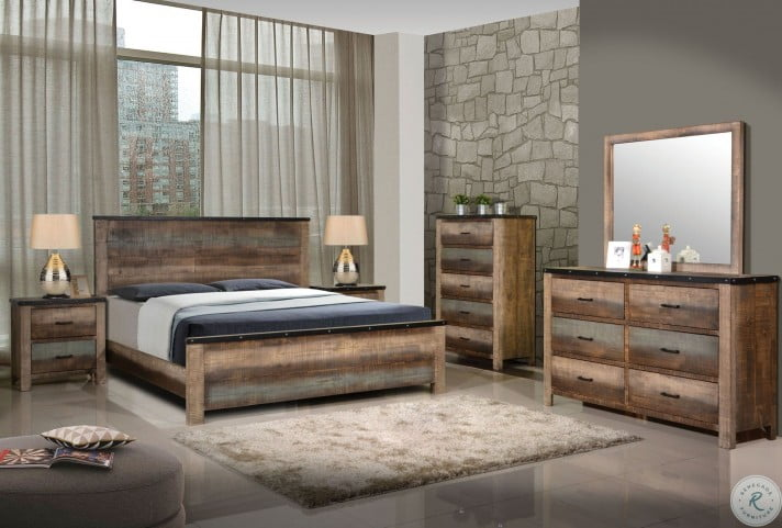 Sembene Antique Multicolor Panel Bedroom Set from Coaster | Coleman ...