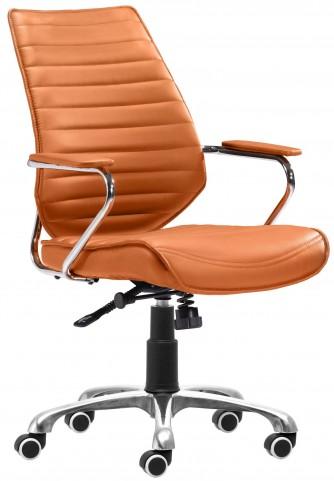 Enterprise Terracotta Low Back Office Chair