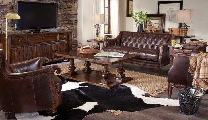 Whiskey Barrel Oak Occasional Table Set