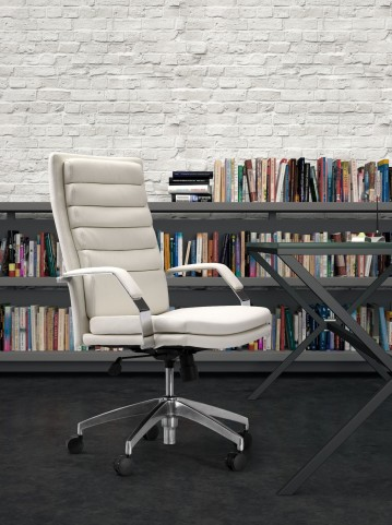 Director White Comfort Office Chair