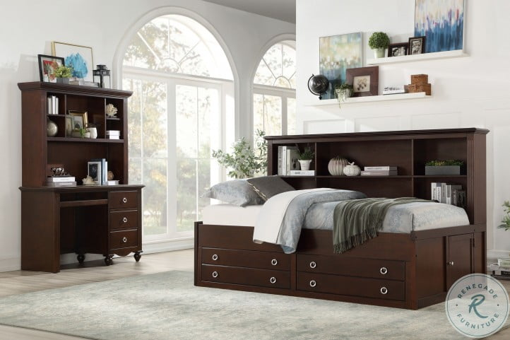 Meghan Espresso Youth Lounge Storage Bedroom Set