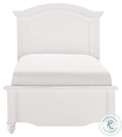 Meghan White Full Panel Bed