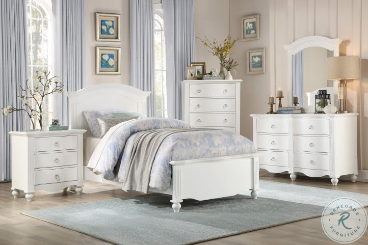 Meghan White Youth Panel Bedroom Set