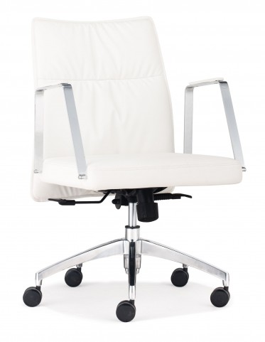 Dean White Low Back Office Chair