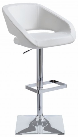 Gustavo White Adjustable Barstool