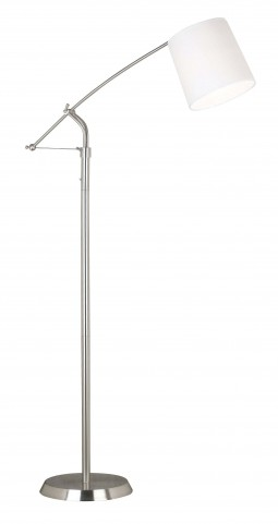 Reeler Brushed Steel Floor Lamp