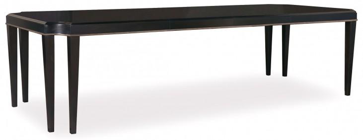 Cosmopolitan Ebony Extendable Leg Dining Table