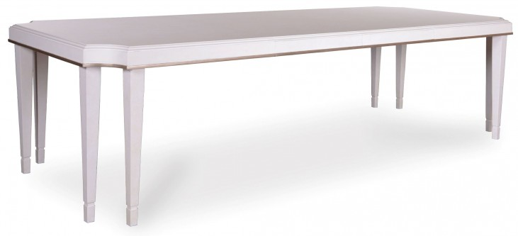 Cosmopolitan Parchment Leg Extendable Dining Table