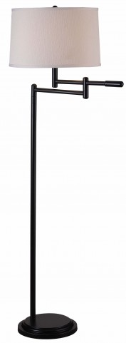 Theta Copper Bronze Swing Arm Floor Lamp