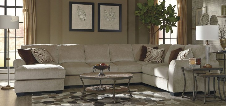 Hazes Fleece LAF Sofa Sectional
