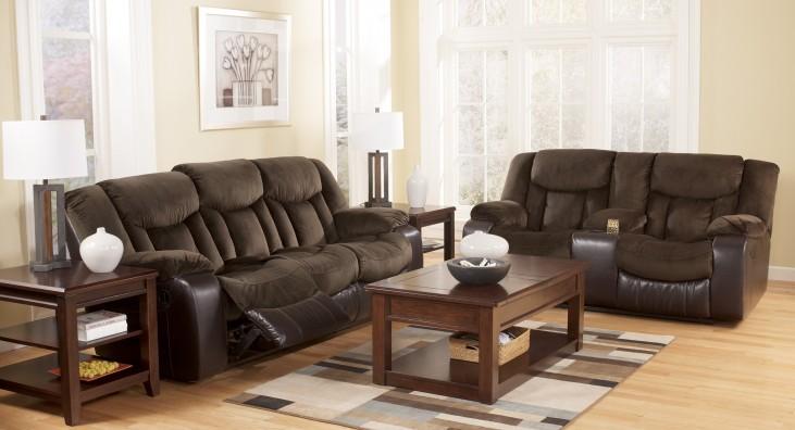 Tafton Java Reclining Living Room Set