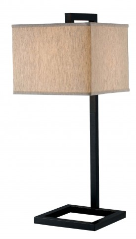 4 Square Oil Rubbed Bronze Table Lamp