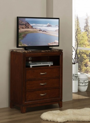 Ottowa Faux Marble Top Tv Chest