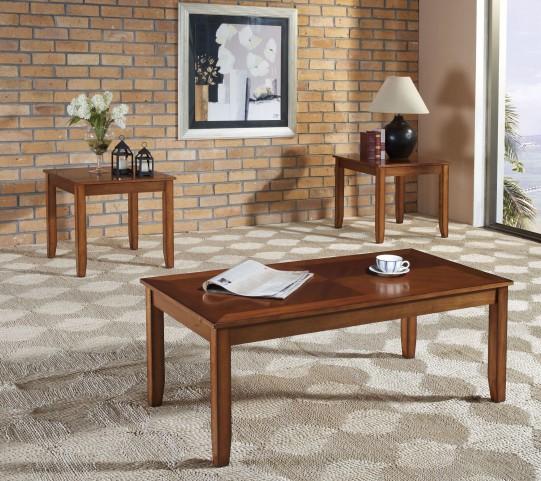 Brantley Tawny Golden Oak 3 Piece Occasional Table Set